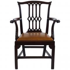 Thomas Chippendale Gothic Chippendale Mahogany Armchair - 1073503
