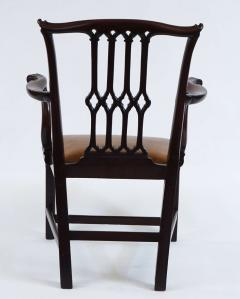 Thomas Chippendale Gothic Chippendale Mahogany Armchair - 1073505