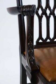 Thomas Chippendale Gothic Chippendale Mahogany Armchair - 1073511