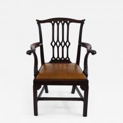 Thomas Chippendale Gothic Chippendale Mahogany Armchair - 1073630