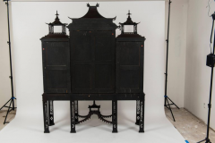 Thomas Chippendale Pair of 19th Century Chinese Chippendale Pagoda Cabinets - 601065