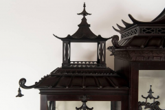Thomas Chippendale Pair of 19th Century Chinese Chippendale Pagoda Cabinets - 601074