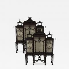 Thomas Chippendale Pair of 19th Century Chinese Chippendale Pagoda Cabinets - 609165