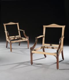 Thomas Chippendale Pair of Georgian Period Gainsborough Chairs - 1169939