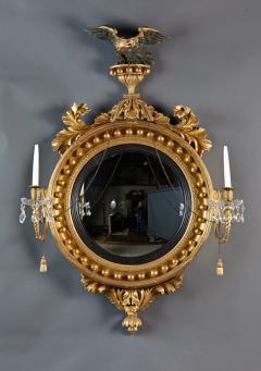 Thomas Fentham A Fine English Convex Mirror With Bentham Label - 296707