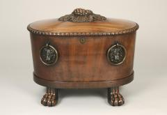 Thomas Hope English Grand Scale Regency Period Mahogany and Lead Lined Oval Wine Cooler - 1230683