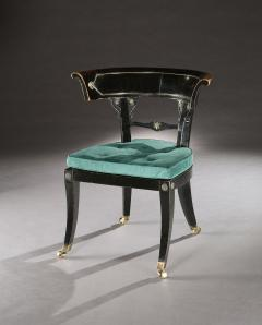 Thomas Hope English Regency Period Ebonised Library Chair - 1137596