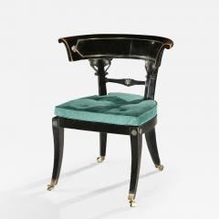 Thomas Hope English Regency Period Ebonised Library Chair - 1138206