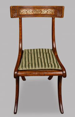 Thomas Hope Set of Four Regency Faux Rosewood Klismos Chairs after a Design by Thomas Hope - 970878