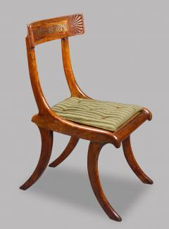 Thomas Hope Set of Four Regency Faux Rosewood Klismos Chairs after a Design by Thomas Hope - 970879