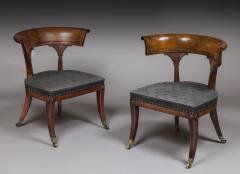 Thomas Hope Thomas Hope Pair of Regency Period Mahogany Library Klismos Chairs - 1187456