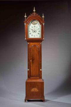 Thomas Seymour Hepplewhite Inlaid Tall Clock with Seymour Attributed Case Boston Circa 1790 - 155854