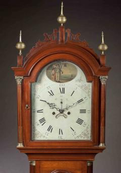 Thomas Seymour Hepplewhite Inlaid Tall Clock with Seymour Attributed Case Boston Circa 1790 - 155856