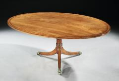 Thomas Sheraton Antique English Large Period Mahogany Oval Breakfast Table Seating for 8 - 1212463