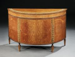 Thomas Sheraton Georgian Satinwood Painted and Decorated Demi Lune Commode - 1155519