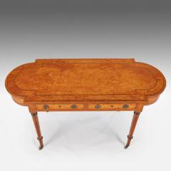 Thomas Sheraton Superb George 111 Period Satinwood Library Writing Table - 1137622