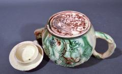 Thomas Whieldon Whieldon type Creamware Pottery Apple Teapot Cover - 1635620