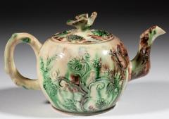 Thomas Whieldon Whieldon type Creamware Pottery Apple Teapot Cover - 1635622