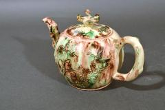 Thomas Whieldon Whieldon type Creamware Pottery Apple Teapot Cover - 1635623