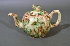 Thomas Whieldon Whieldon type Creamware Pottery Apple Teapot Cover - 1635625