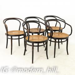 Thonet Stendig Bentwood Mid Century Cane Dining Chairs Set of 5 - 1869812