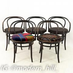 Thonet Stendig Bentwood Mid Century Cane Dining Chairs Set of 5 - 1869813