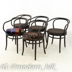 Thonet Stendig Bentwood Mid Century Cane Dining Chairs Set of 5 - 1869815