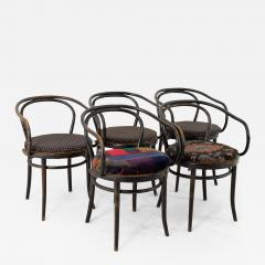Thonet Stendig Bentwood Mid Century Cane Dining Chairs Set of 5 - 1877541