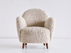 Thorald Madsens Pair of Thorald Madsen Armchairs in Sheepskin and Beech Denmark Mid 1930s - 1940365