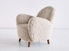 Thorald Madsens Pair of Thorald Madsen Armchairs in Sheepskin and Beech Denmark Mid 1930s - 1940378