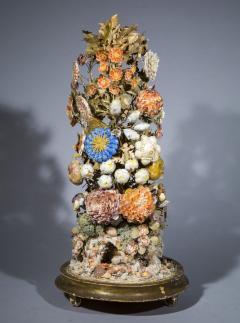 Three 19th Century Shellwork Flower Sculptures - 1214883