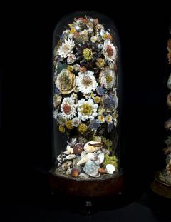 Three 19th Century Shellwork Flower Sculptures - 1214886