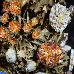 Three 19th Century Shellwork Flower Sculptures - 1214887