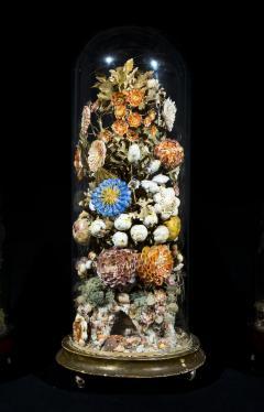 Three 19th Century Shellwork Flower Sculptures - 1214889