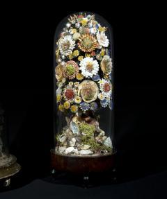 Three 19th Century Shellwork Flower Sculptures - 1214890