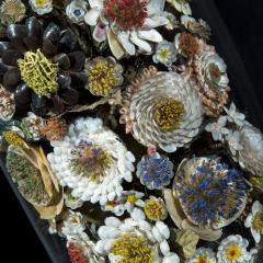 Three 19th Century Shellwork Flower Sculptures - 1214891