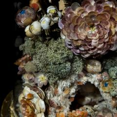 Three 19th Century Shellwork Flower Sculptures - 1214892