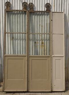 Three Door Sets of Vintage Commercial Metal Freight Elevator Doors - 243825 & Three Door Sets of Vintage Commercial Metal Freight Elevator Doors pezcame.com