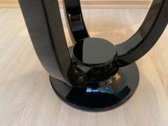 Three Legged Art Deco Gu ridon Side Table Black Lacquer - 1199904