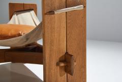 Three Legged Oak Sling Chair in Oak ca 1960 1970s - 1187035