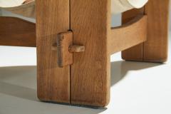 Three Legged Oak Sling Chair in Oak ca 1960 1970s - 1187037