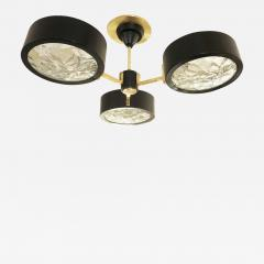 Three Light Chandelier with Ice Glass - 1573830