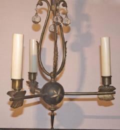 Three Light Empire Bronze Chandelier - 631419