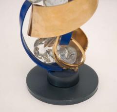 Three Metal Glass Sculptures - 247833