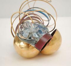 Three Metal Glass Sculptures - 247834
