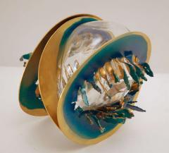 Three Metal Glass Sculptures - 247837