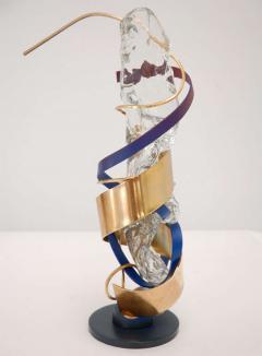 Three Metal Glass Sculptures - 247839