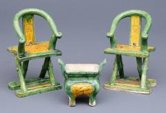 Three Miniature Ming Funeral Pieces Circa 1368 1644 - 1739033