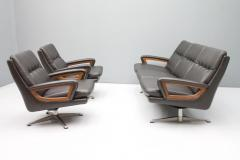 Three Seat Leather Sofa by Carl Straub Germany 1960s - 1297692