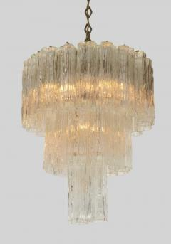 Three Tiered Tronchi Tube Murano Glass Chandelier by Camer - 775269